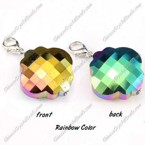 crystal lantern pendant, 25mm, rainbow color, sold 1 pcs