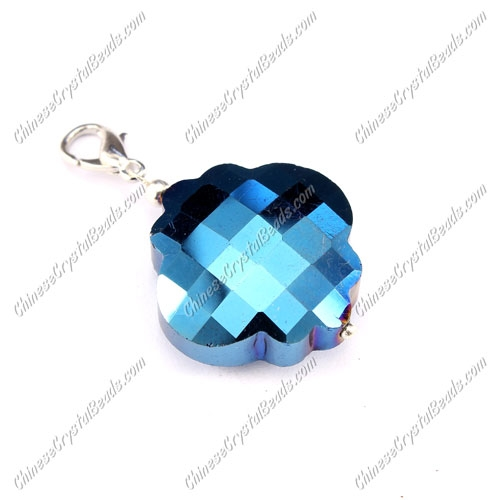 crystal lantern pendant, 25mm, blue light, sold 1 pcs