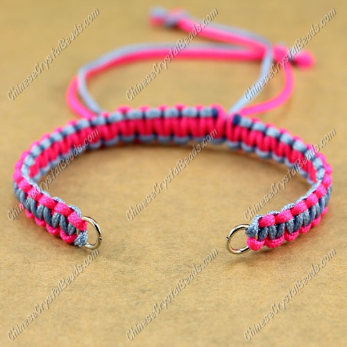 Pave chain, fuchisa and lt sapphire, wide : 7mm, length:14cm