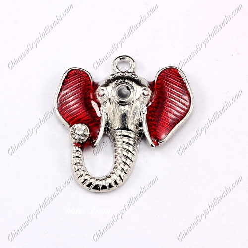 Alloy Charm pendant , The elephant, 28x26mm, hole 2mm, sold 1 pcs