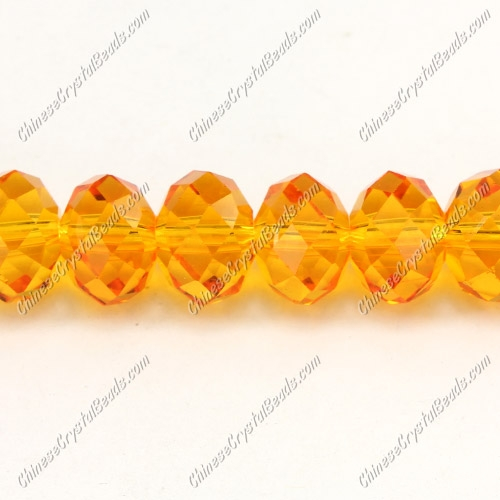Chinese Crystal Rondelle Bead Strand, Sun, 9x12mm, about 36 beads