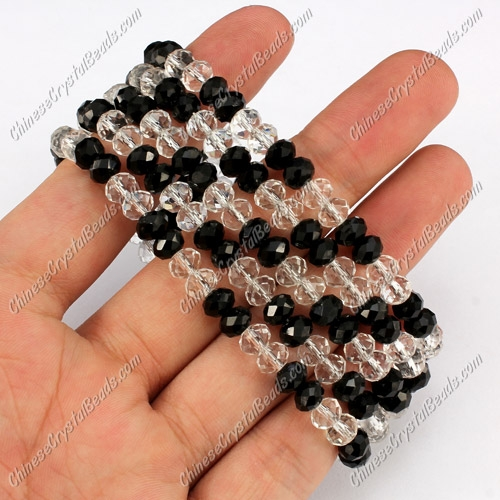 "Big Magnetic Clasps crystal beads bracelet, wide: 30mm, 7.5"" length"