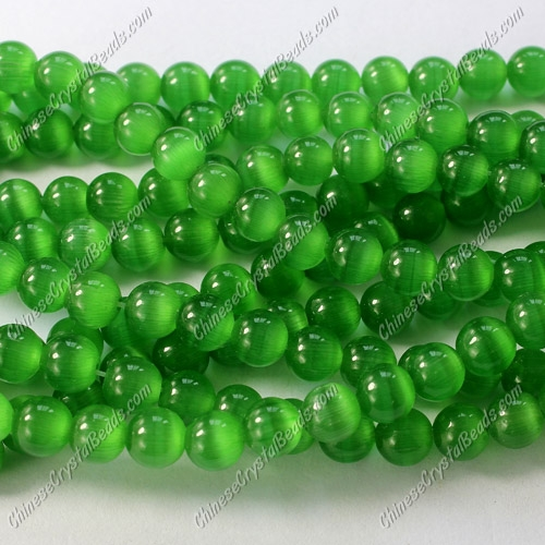 "glass cat eyes beads strand, green, about 15"" longer"