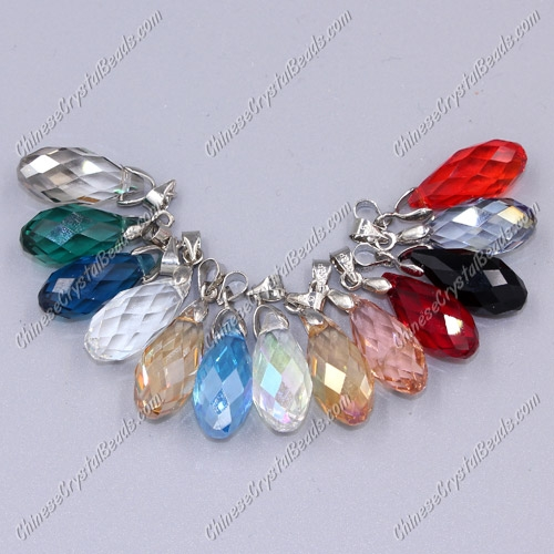 10x20mm Briolette beads pendant, more color, 1 pcs