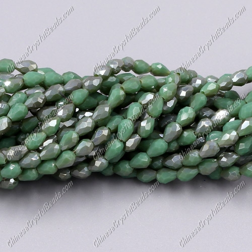 Chinese Crystal Teardrop Beads Strand, #009, 3x5mm, about 100 Beads