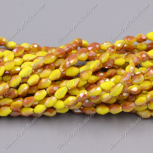 Chinese Crystal Teardrop Beads Strand, #017, 3x5mm, about 100 Beads