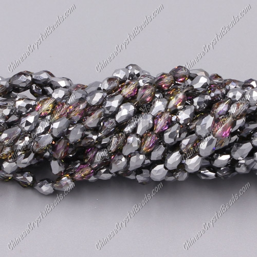 Chinese Crystal Teardrop Beads Strand, #59, 3x5mm, about 100 Beads