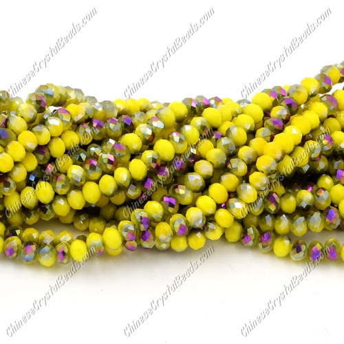 Chinese Crystal Long Rondelle Strand, 3x4mm, #17 , about 150 beads