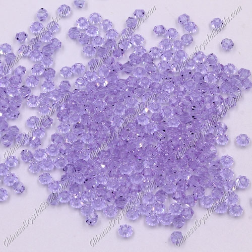 720pcs 3mm chinese crystal bicone beads, alexandrite
