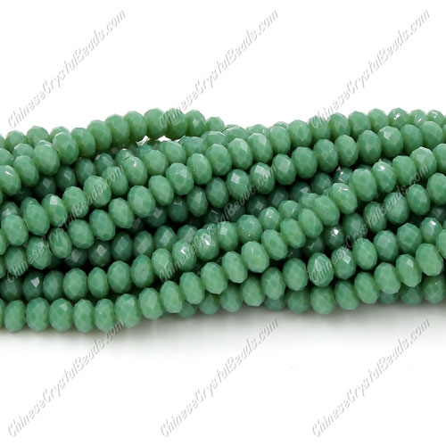 Chinese Crystal Long Rondelle Strand, 3x4mm, Turquoise 2 , about 150 beads