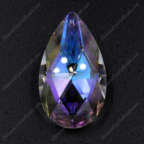 50x28mm Crystal Faceted Teardrop big Pendant, Clear AB, hole: 1.5mm