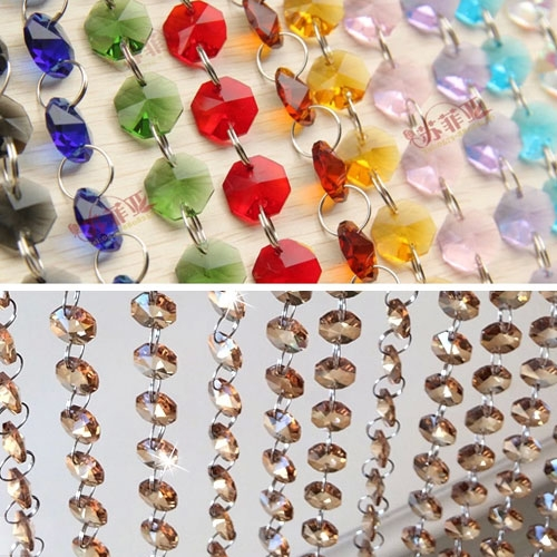 DIY Curtains kits, Crystal Octagon Beads, sold by the meter