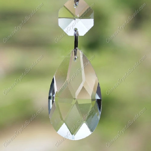 38mm Crystal Faceted Teardrop Pendant(more color), 1 bead