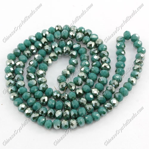 Chinese Crystal Rondelle Bead Strand,opaque #001, 3x4mm , about 150 pcs