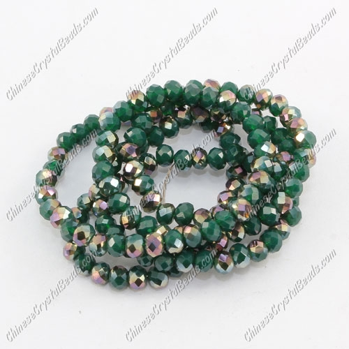 Chinese Crystal Rondelle Bead Strand,opaque #006, 3x4mm , about 150 beads