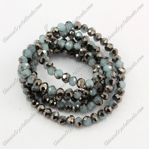 Chinese Crystal Rondelle Bead Strand,3x4mm,,opaque #015, about 150 beads