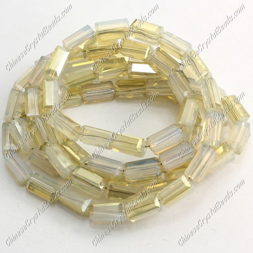 cuboid crystal beads, 4x4x8mm, #003, 72pcs per strand