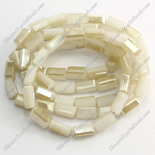 cuboid crystal beads, 4x4x8mm, #001, 72pcs per strand