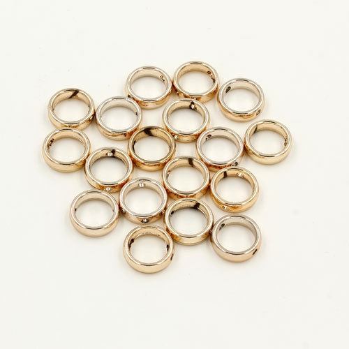 brass spacer beads, champagne gold plated brass, round shape, 12mm, Sold per pkg of 10.