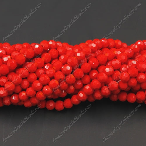 Chinese Crystal Round Strand, 4mm, Red Velvet, about 100 beads