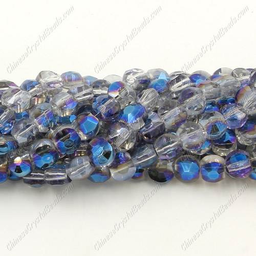 5x6mm Bread crystal beads long strand, blue light, about 100pcs per strand