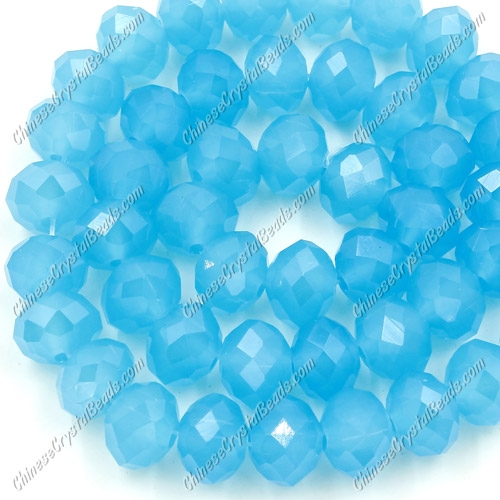 35pcs Chinese Crystal Rondelle Bead Strand, sky blue jade, 8x10mm