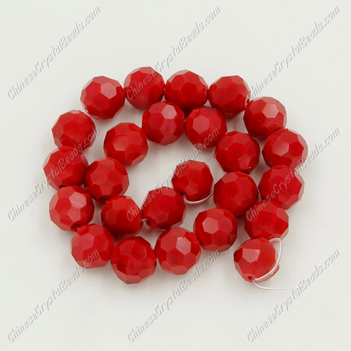 Chinese Crystal Round Disco Beads, 8mm, Red Velvet , 25 beads