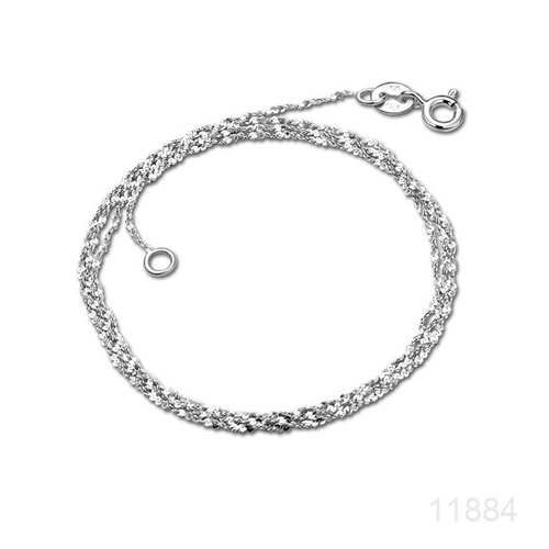 Chain, Platinum plated Sterling Silver, 18-inch. made in Italy, Sold individually