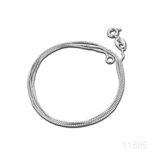 Chain, Platinum plated Sterling Silver, 16-inch. made in Italy, Sold individually