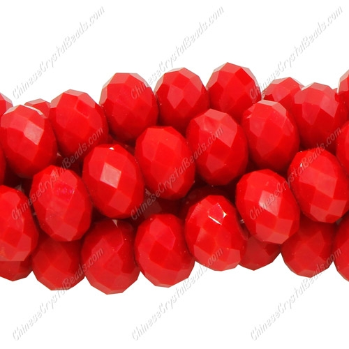Chinese Crystal Rondelle Strand, 8x12mm, Red Velvet , about 36 beads