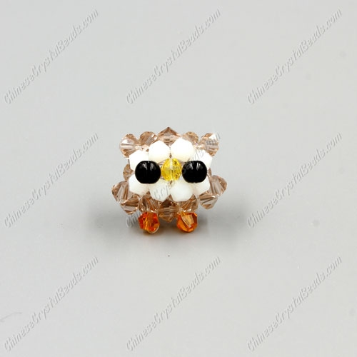 3D beading Owl (Charm Kit), 20x28mm