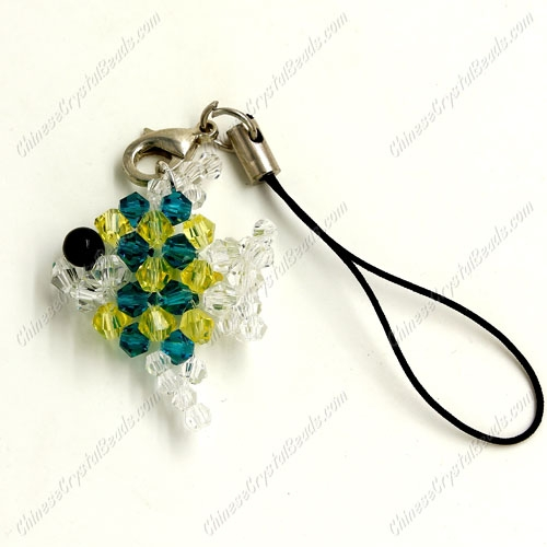 3D Beading crystal fish Charm Kit, #5