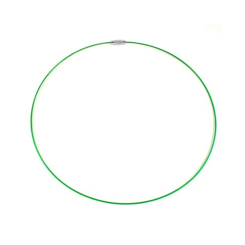 Green Steel Wire Choker Necklace