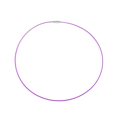 Purple Steel Wire Choker Necklace