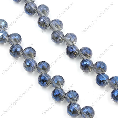 20Pcs chinese crystal round drop beads, 8mm, hole:1.5mm, Magic Blue