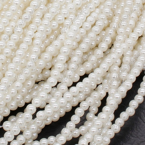 Imitation Pearl ABS Beads, 4mm Round, Hole:Approx 1mm, Sold By about 240pcs per strand