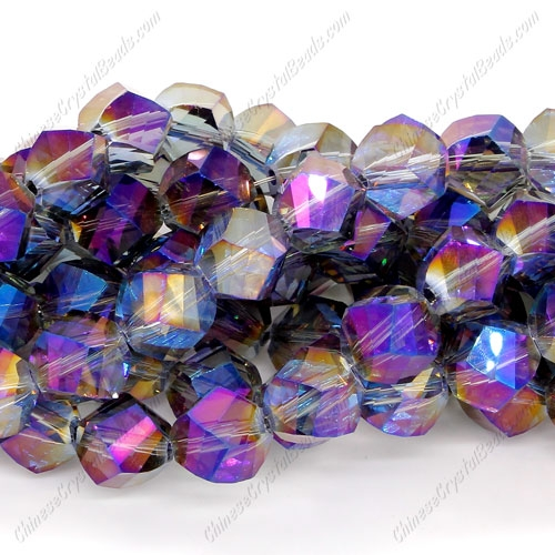 Chinese Crystal Helix Strand, 10mm, purple light, 20 beads