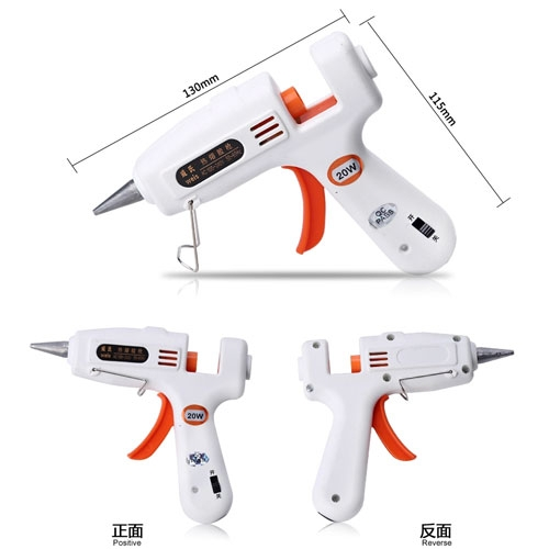 1pc Glue Gun With 3pcs Glue Sticks,Glue Gun Crafts Repair Tool,Heating Hot Melt Glue Gun with sticks