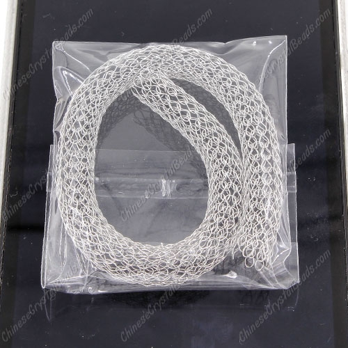"DIY Mesh Bracelet soft Stainless steel fishnet tube, width:8mm, about 8""(20cm)"