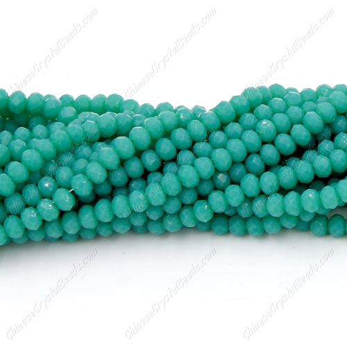 Chinese Crystal Long Rondelle Bead Strand, opaque #118, 3x4mm , about 150 beads
