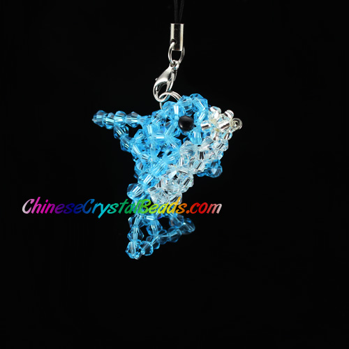 Crystal 3D Beading crystal animals Blue Dolphin 54x38x32mm