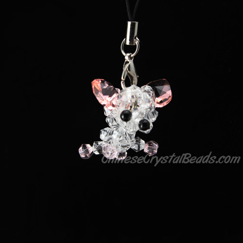 Crystal 3D Beading crystal animals Dog Chihuahua clear 27x27x24mm