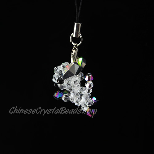 Crystal 3D Beading crystal animals Dog Chihuahua clear AB 27x27x24mm