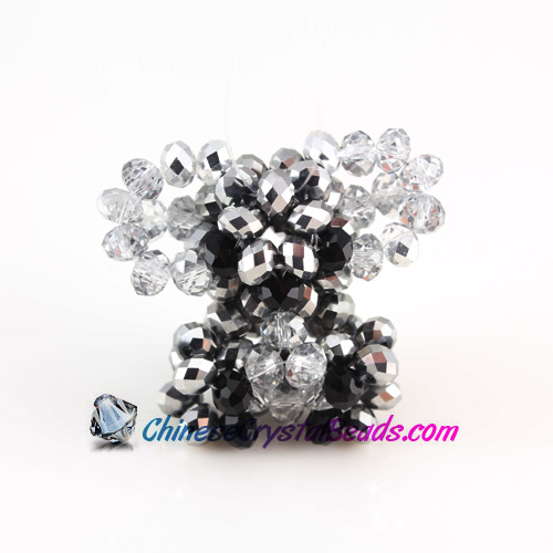 Crystal 3D Beading crystal animals Koala Silver 32x30x17mm