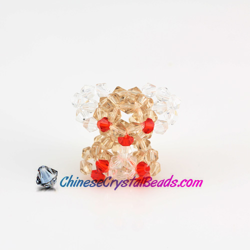 Crystal 3D Beading crystal animals Koala red eye 32x30x17mm