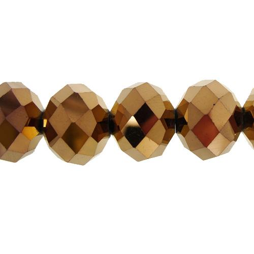 Chinese Crystal Rondelle Bead Strand, Copper, 12x16mm 10 piece