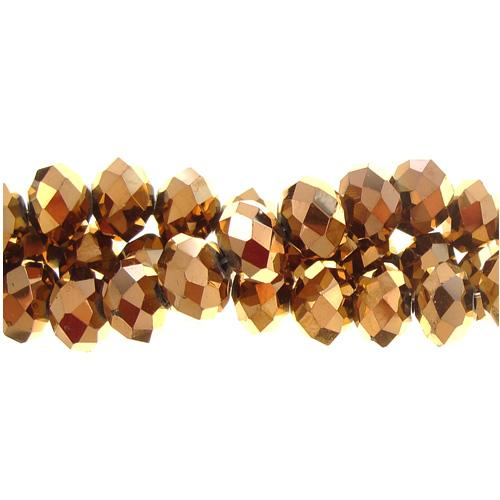 Chinese Crystal Rondelle Bead Strand, Copper, 4x6mm ,about 100 beads