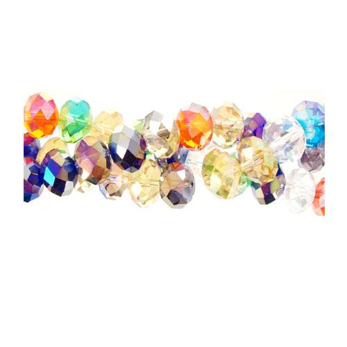 Chinese Crystal Multi-Color Rondelle Strand, 9x12mm ,about 36 beads