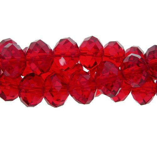 70 pieces 8x10mm Chinese Crystal Rondelle beads Strand,Med. Siam
