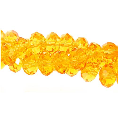 Chinese Crystal Rondelle Bead Strand, 4x6mm, Sun , about 100 beads